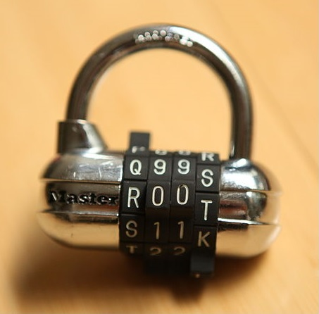 Master lock with root password